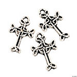 Silvertone Celtic Cross Charms