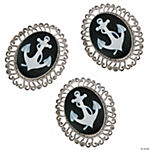 Silvertone Anchor Cameo Charms