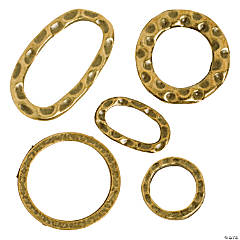 Antique Goldtone Hammered Ring Assortment