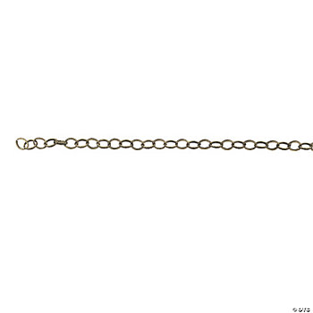 Antique Goldtone Diamond Pattern Chain