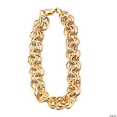 Goldtone Multi-Ringed Chain Bracelets