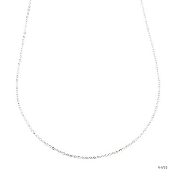 Silvertone Delicate Necklace Chains