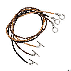Braided Necklaces With Toggle Clasp