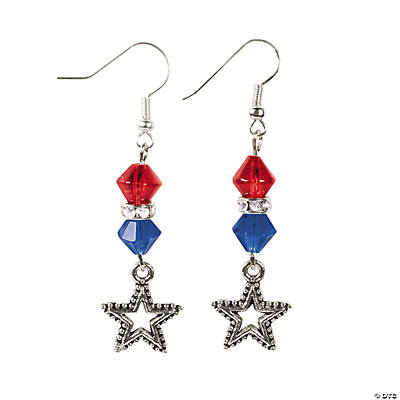 Red, White & Blue Crystal Earrings Craft Kit