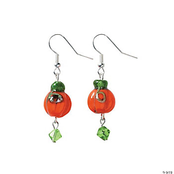 Glass Pumpkin Earring Kit