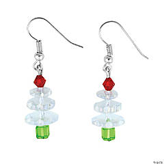 Clear Crystal Christmas Tree Earrings Craft Kit