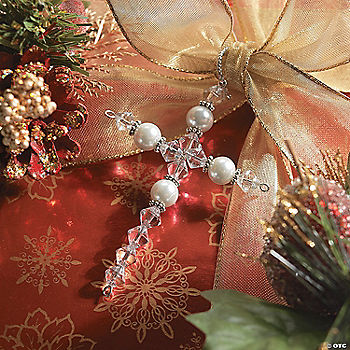 Beaded Cross Ornament Craft Kit Oriental Trading