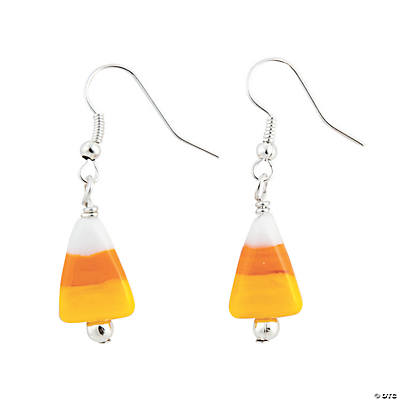 Candy Corn Lampwork Earrings Kit