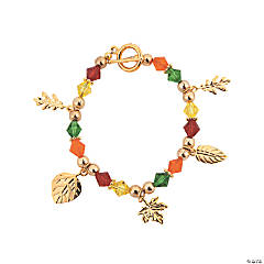 Autumn Crystal Charm Bracelet Kit