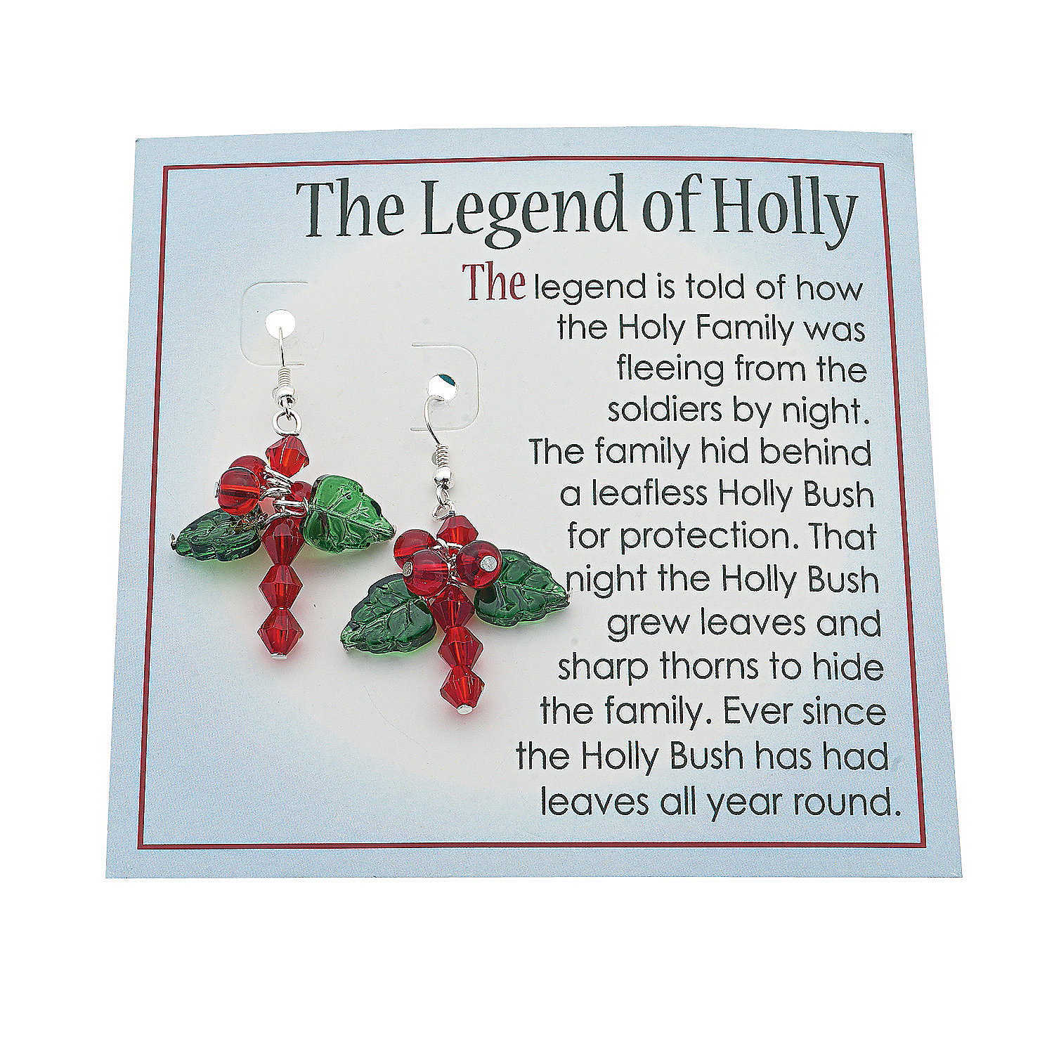 Legend Of The Christmas Tree Poem: Holly Cross Earring Kit