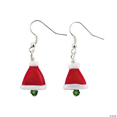 Santa Hat Lampwork Earring Kit