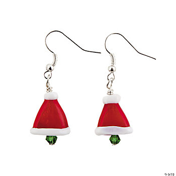 Santa Hat Lampwork Earring Kit