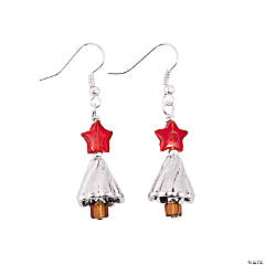 Silver Christmas Tree Earring Kit