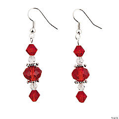 Red Faceted Dangle Earring Kit