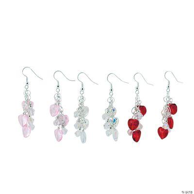 Heart Dangle Earrings Craft Kit