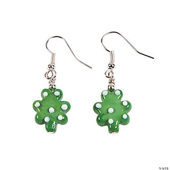 Shamrock Lampwork Glass Earring Bead Kit