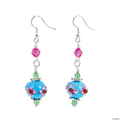Tropical Flower Lampwork Earrings Kit