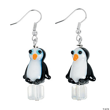 Penguin Lampwork Earring Kit