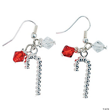 Silver Candy Cane Earring Kit