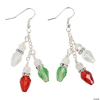 Christmas Light Bulb Earring Kit - Oriental Trading