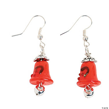 Christmas Bells Lampwork Earring Kit
