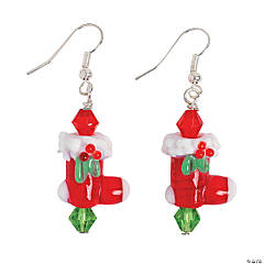 Christmas Stocking Lampwork Earring Kit