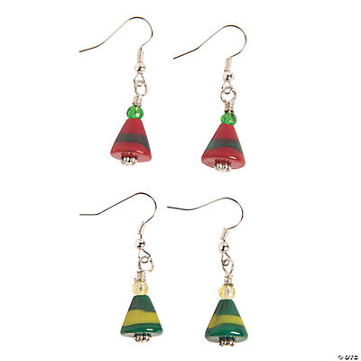 Christmas Elf Hat Lampwork Earrings Kit