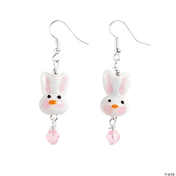Easter Bunny Lampwork Earrings Kit