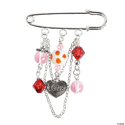 Valentine Beaded Pins Craft Kit