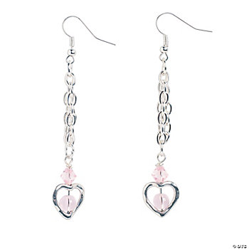 Silvertone Heart Earrings Kit