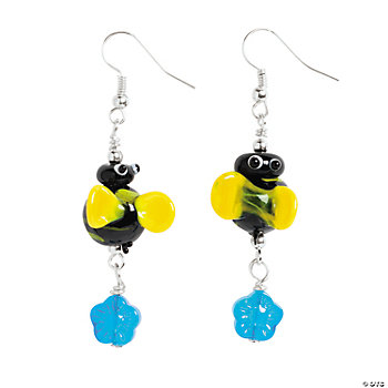 Bumblebee Lampwork Earrings Kit