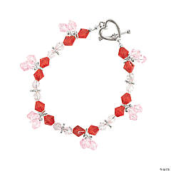 Valentine Color Crystal Bicone Bracelets Kit