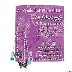 Eternal Life Butterfly Earrings With Card Kit