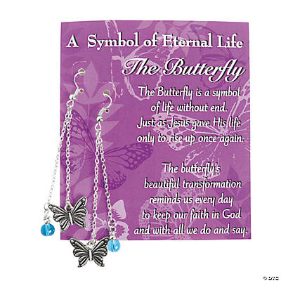 Eternal Life Butterfly Earrings with Card Craft Kit