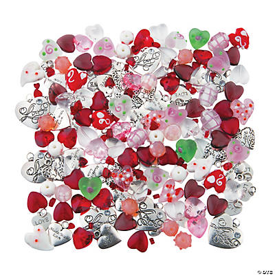 Hearts-A-Plenty Glass Bead & Charm Assortment