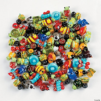 Spring Lampwork Bead Assortment - 7mm-22mm