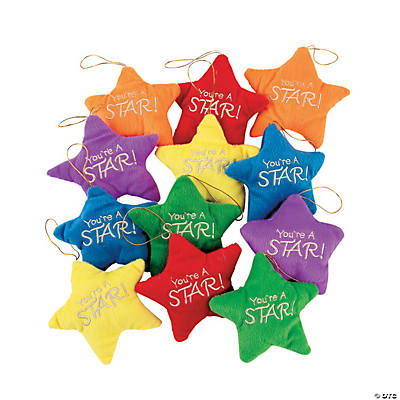 Plush Colorful Stars