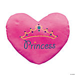 "Plush ""Princess"" Heart Pillow"