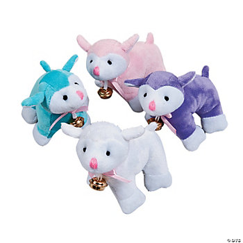 Plush Lambs With Bell