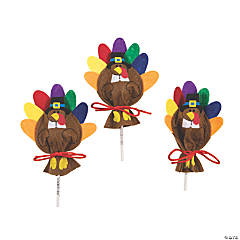 Felt Turkey Sucker Covers