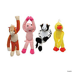 Plush Long Arm Farm Animals