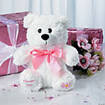 Plush Flower Girl Bear