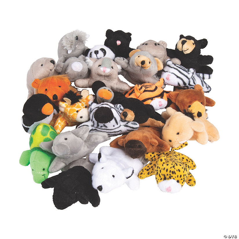 50 Pc Mini Zoo Stuffed Animal Assortment