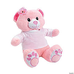 Personalized Pink Plush Bear