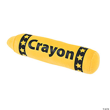 Plush Yellow Crayon