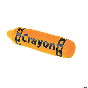 Plush Orange Crayon