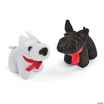 Plush Scottie Dogs With Scarf
