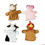 Plush Farm Hand Puppet Assortment