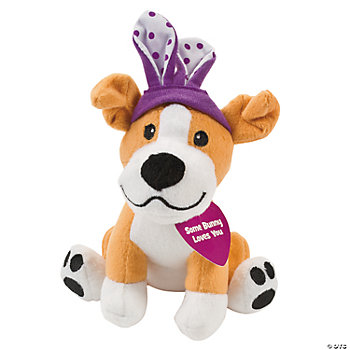 "Plush ""Some Bunny Loves You"" Dog"
