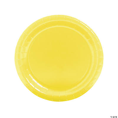 Round Mimosa Yellow Dinner Plates